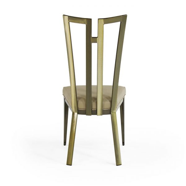 9611 Rayne Chair Polished Brass Chocolate Symphony Rear